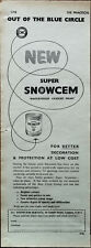 Snowcem Waterproof Cement Paint For Better Decoration and Protection Advert 1958