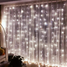 300 LED 3m Fairy Curtain String Lights Wedding Party Room Decor  Holiday White