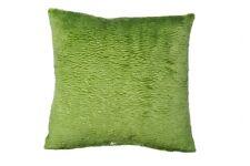 Kissenhülle Sofakissen Veloursstoff Kissen mit Plüscheffekt Fb grün ca. 40x40 cm
