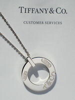 Tiffany & Co Sterling Silver 1837 Circle Round Charm Necklace