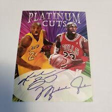 Kobe Bryant Michael Jordan Platinum Cuts Facsimile Auto 1000 Made 🔥 🔥 🔥