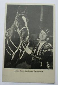 Frieda Krone von Circus Krone - Die elegante Schulreiterin - alte AK