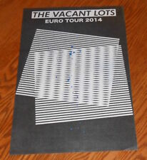 The Vacant Lots Euro Tour 2014 Poster Promo Original 11x17 Electro Psych Rare
