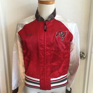 NEW Tampa Bay Buccaneers Jacket Reebok Youth L or Woman's M PolSatin Jacket NWOT