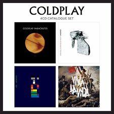 COLDPLAY - 4 CD CATALOGUE SET - PARACHUTES/XGY/VIVA LA VIDA/A RUSH OF BLOOD TO