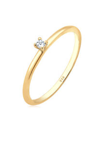 Goldring Ring Verlobungsring Gold 585 gelbgold Diamant Solitär elegant DIAMORE