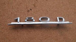Schriftzug, Emblem, Schriftzug Mercedes 180 D - W120 Ponton