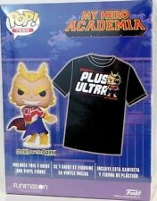 Funko Pop! Tees - My Hero Academia Plus Ultra T-Shirt & Sliver Age All Might ...