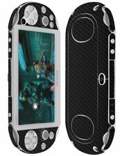 Skinomi Carbon Fiber Black Skin+Clear Screen Protector for Sony PS Vita PCH-2000