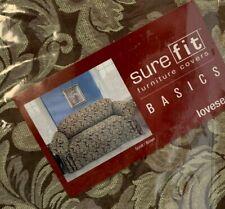 Surefit Sure Fit Slip Cover  Loveseat Brown
