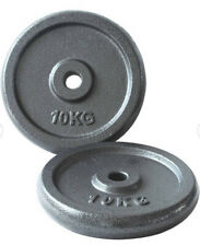1 Inch Cast Iron Weight Plates - 2 x 10kg (Total 20kg) Brand New Gym Opti