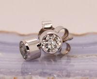 Brillant Diamant Ohrstecker 585 Weißgold 14 Karat Gold 1,02 ct F/IF Solitär