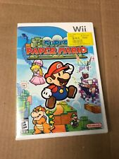 Super Paper Mario [ First Print W/ White Case ] (Wii) USED