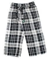 Lauren by Ralph Lauren Women's Pants Black Size 4P Plus Plaid Wide-Leg $125 #523