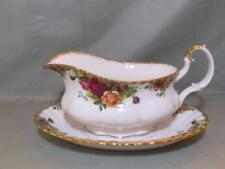 Royal Albert Old Country Roses Gravy Sauce Boat & Stand (First Quality)