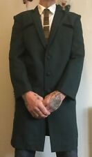 TEDDY BOY DRAPE JACKET brand new half collar TRADITIONAL CUT AND TAILORED GREEN