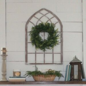 Farmhouse window frame wall decor  home accent wood  32 inch tall