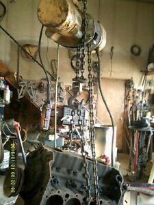 Budgit Chain Hoist 1 ton 115VAC, 15 ft of chain.