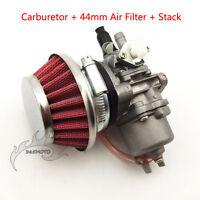 Carby Carburetor Air Filter Stack For 47cc 49cc Mini Quad ATV Pocket Dirt Bike