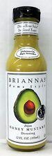 Brianna's Home Style Dijon Honey Mustard Salad Dressing 12 oz Briannas