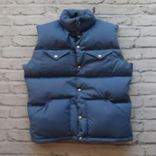 Vintage 80s North Face Quilted Down Vest Size M Brown Tag Made in USA Western