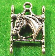 5Pcs. Tibetan Silver HORSE In Horse Bit  Beautiful Pendants Charms Findings HR27