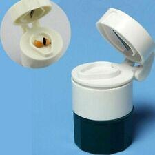 Tableta Píldora Amoladora pulverizador trituradora de almacenamiento Caja de Separador Medicina Cortador Herramienta