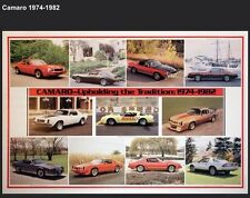 Camaro 1974-1982 (History) Out Of Print Car Poster Extremely Rare! Own It! Wow!!