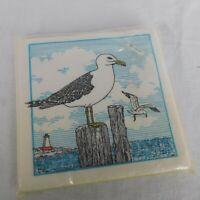 "Northwest Gift House Seagull Beverage Napkins Vintage pkg of 24 10"" x 10"""