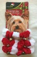 Jingle Bell Dog Collar & Cuffs - SMALL/MED Dogs - Bells - Decorative Only -NWT