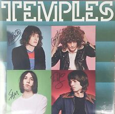 TEMPLES ‎– VOLCANO ‎– UK BLACK VINYL WITH BAND HAND SIGNED LIMITED ART PRINT