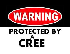 METAL MAGNET Native Canadian Indian Warning Protected By A Cree Travel Canada