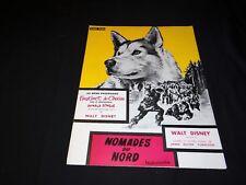 NOMADES DU NORD scenario dossier presse cinema animation walt disney husky 1962