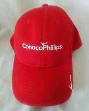 New Conoco Philips Nike Golf Baseball Hat Cap Red Swoosh Embroidered Stretch Fit