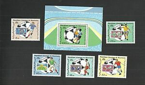 1986- Mauritania- Airmail- Fifa Football World Cup - Mexico 1986- Block 6 stamps