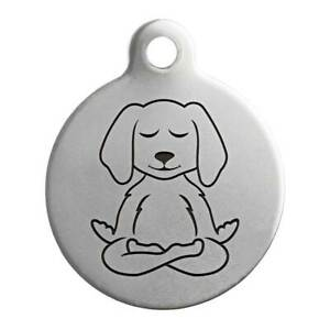 Stainless Steel Personalized Metal Tag for Pet Dog and Cat Charms Collars 35 MM