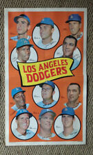 1969 Topps Team Posters #22 Los Angeles Dodgers Poster Photo Don Drysdale