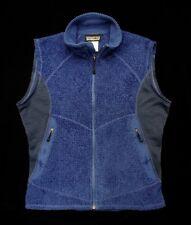 authentic PATAGONIA royal blue faux fur/waffle fleece VEST JACKET men S XS
