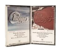 LOT  OF 2 CHICAGO CASSETTE TAPES ~ SELF TITLED & X ~ CLASSIC ROCK COLUMBIA LABEL