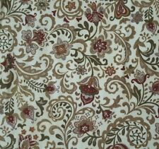 Belle BTY Timeless Treasures Tonal Rust Tan Green Floral Ivory 100% Cotton