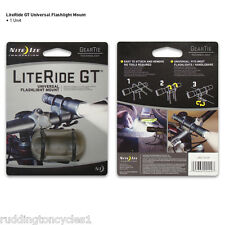 NITE IZE Literide Cycle Bike GT Universal Torch Holder Gear Tie Flashlight Mount