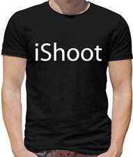 IShoot Para Hombres Camiseta-tiro-tiro con arco-Clay Pigeon-Rifle de aire-Caza