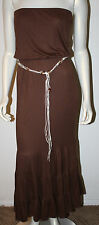 DIANE von FURSTENBERG Jamaica Brown Modal Long Strapless Dress NWT S DVF