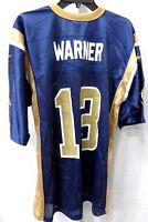 St. Louis Rams Kurt Warner NFL Football Jersey Throwback Navy