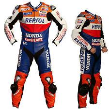 Repsol honda motorbike suits marc Marquez Leather MOTO GP Racing Suit One Heart