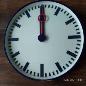 Deutsche Bahn Uhr blau Durchmesser 63 cm