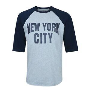 New York City Logo John Lennon Style Three Quarter Sleeve Unisex 4Colors T-shirt