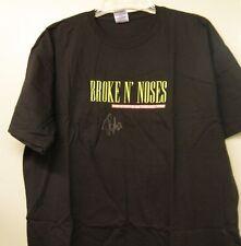 Dennis Bonvie WBS Penguins Autographed T-Shirt XL Broken Noses Farewell Tour New