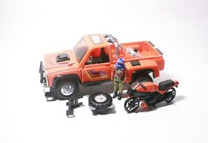 Vintage 1985 Kenner M.A.S.K. Firecracker Truck, Cycle & Hondo - 100% Complete