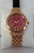 Betsey Johnson Rose Gold Crystal Glitter Bracelet Watch NEW!